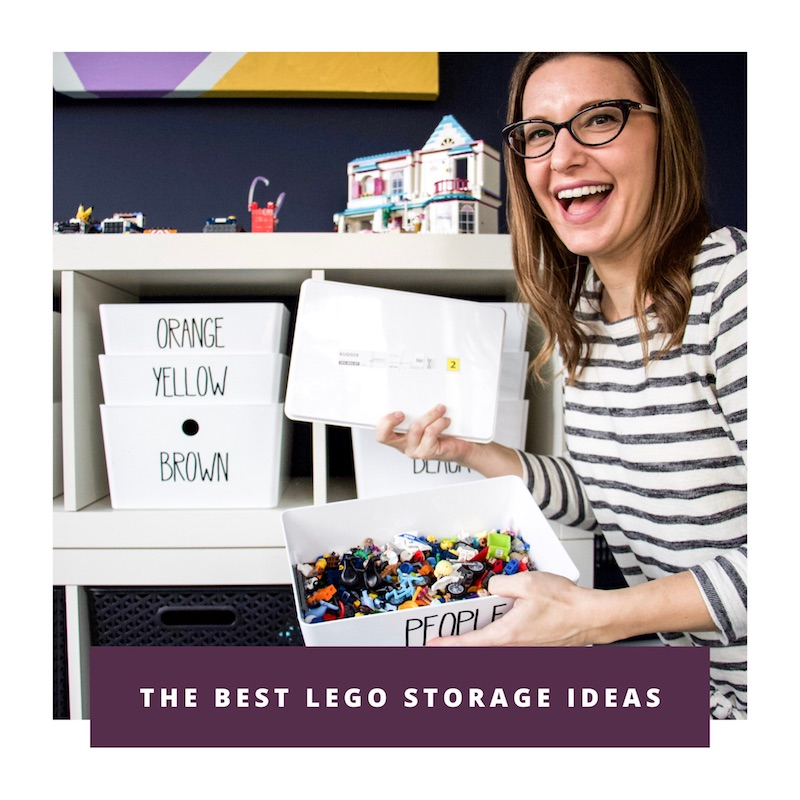 best lego storage with link to video on how to store legos