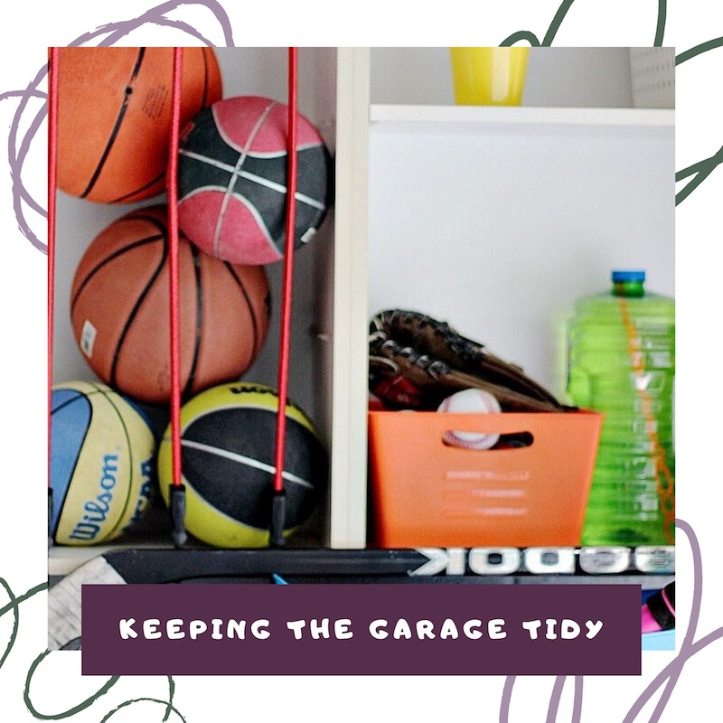 keeping the garage tidy with the organized kids link to video