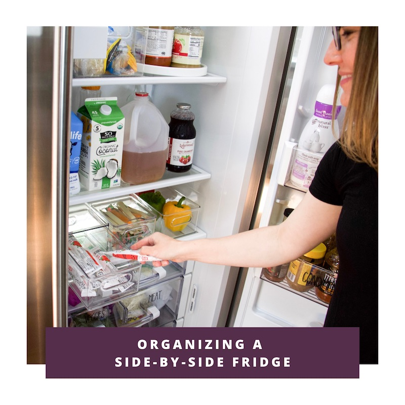 organizing a side by side fridge link to video
