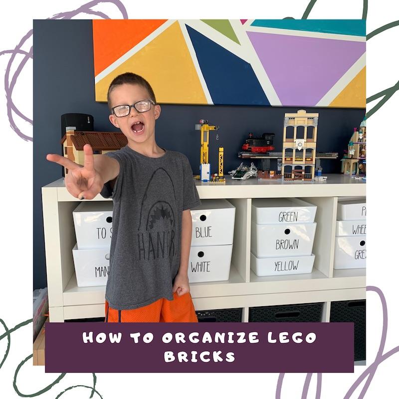 how to organize lego bricks the organized kids link to video