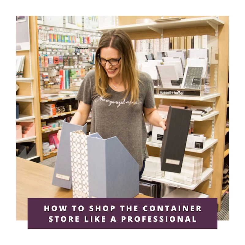 how to shop the container store like a pro link to video
