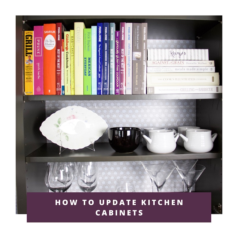 update kitchen cabinets with easy liner link to video