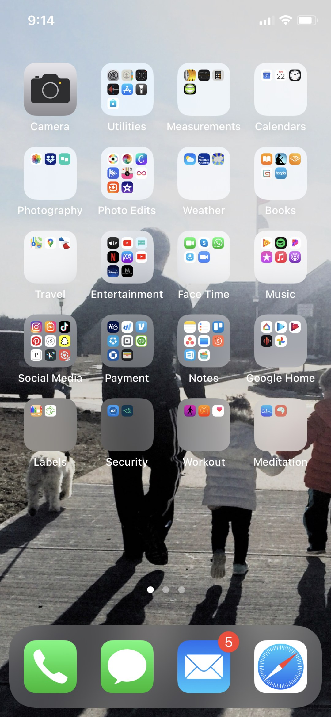 screenshot of iPhone apps organized by category