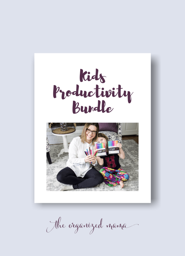 kids productivity pack graphic