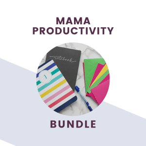 mama productivity pack graphic and text