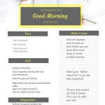 morning routine guide