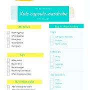 How to create a kids capsule wardrobe in 2 simple steps the want my free kids capsule wardrobe checklist to help you keep on track pronofoot35fo Image collections