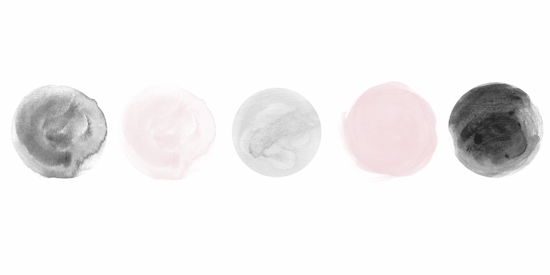 capsule wardrobe color palette pink and grey