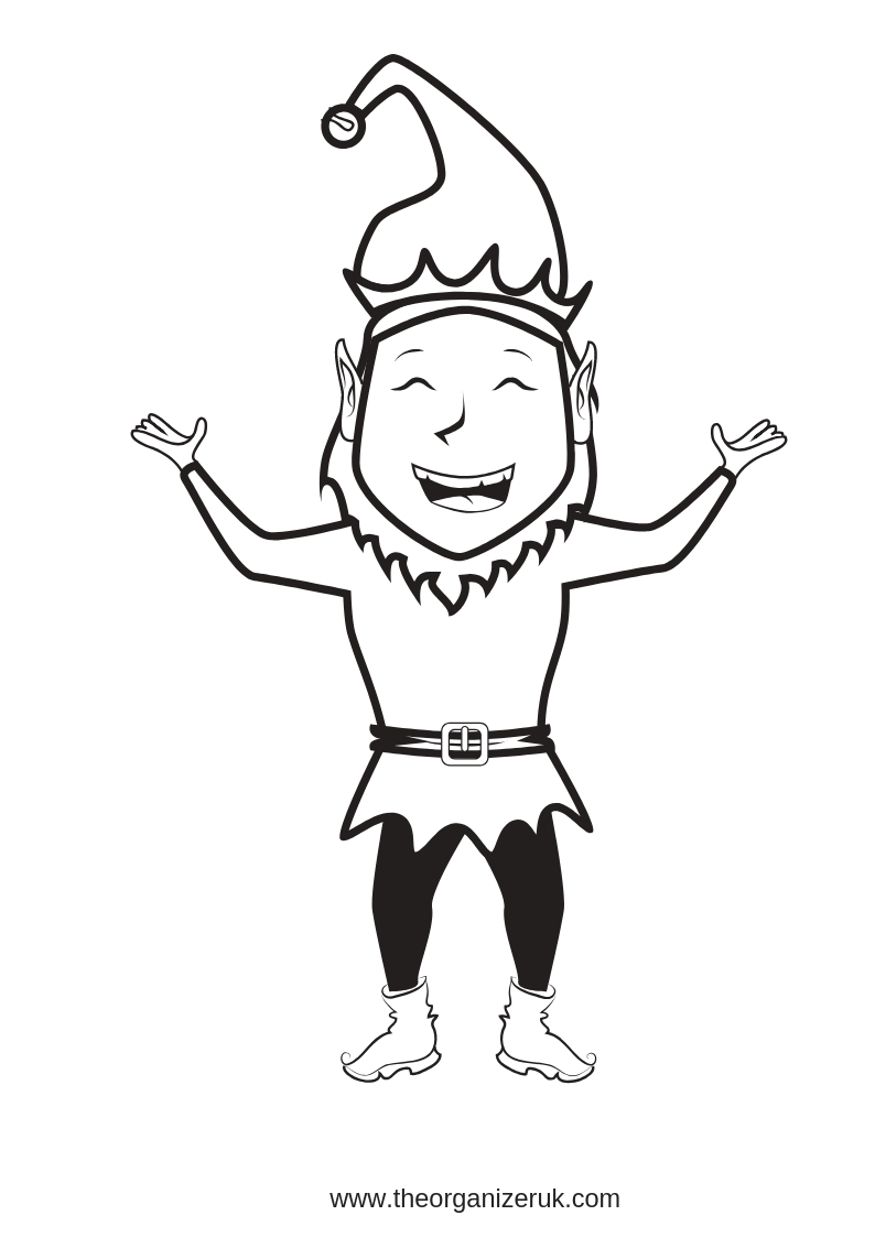 elf on the shelf ideas , elf colouring pages
