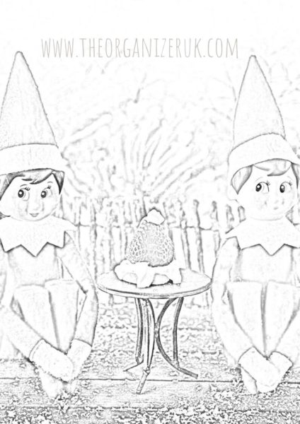 Free Printable Elf Coloring Pages For Kids | 600x424