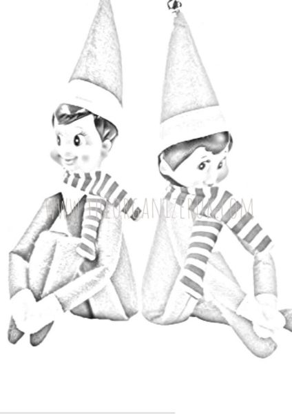 elf on the shelf coloring pages pdf | 7 Amazing Elf On The Shelf Coloring Pages. ~ The Organizer UK