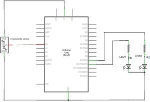Proximity (GP2Y0A21YK ) distance Sensor with Arduino