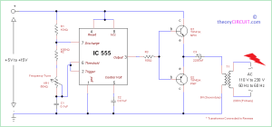 Simple Inverter Circuit using IC 555