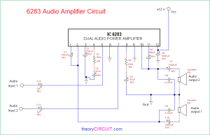 6283 Audio Amplifier Circuit