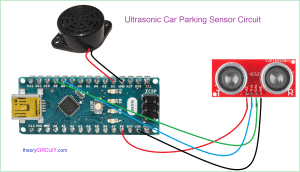 Car Reverse Parking Sensor Circuit