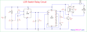 LDR Switch Relay Circuit