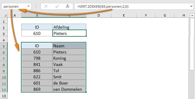 Excel verticaal zoeken tip 13