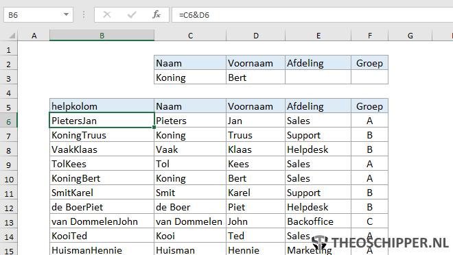 Excel verticaal zoeken tip 21