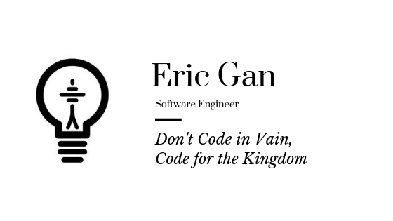 Don't Code in Vain, Code for the Kingdom - TheoTech