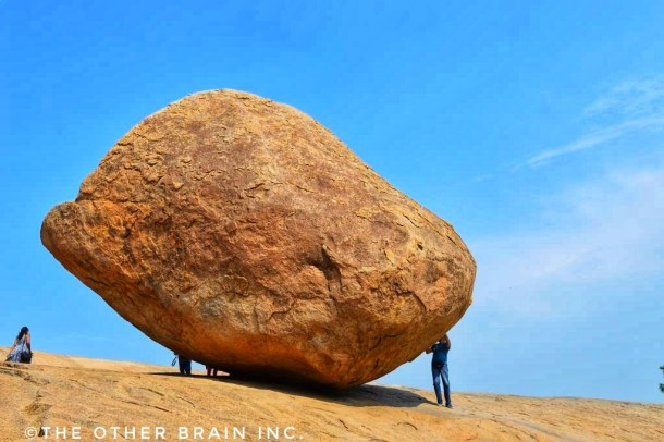 Only Hercules might be able to shift this rock also known as Krishna's Butter Ball - Interesting facts about Mahabalipuram