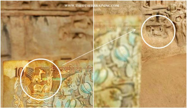 Have you seen this old 10 Rs. note? Check again at Arjuna's Penance & Ganga's Descend Monument - Interesting facts about Mahabalipuram