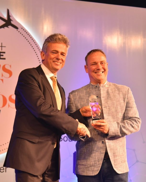 The guest of honour, Mr. Hans Christian Winkler with Mr. Heddo Siebs, GM Andaz Delhi
