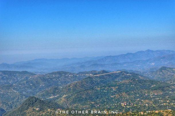 View of runway during the TaraDevi Temple Trek Shimla