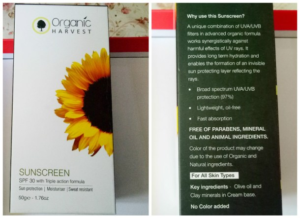 Packaging of Organic Harvest Cream - Sunscreen