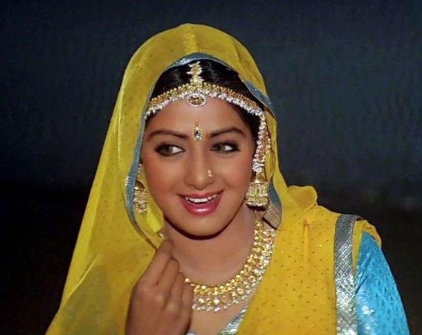Morni bagah ma boleyaji... Sridevi Hindi film career