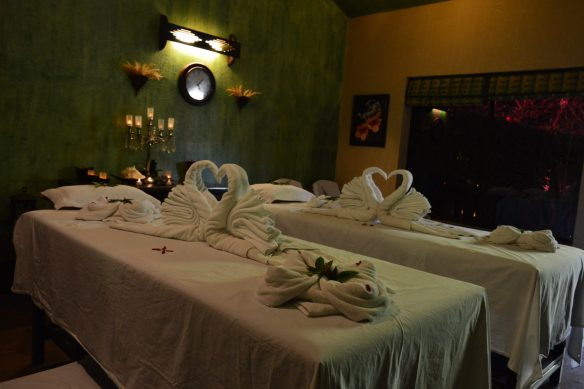 Typical Spa room at Aahana Resort in Jim Corbett National Park