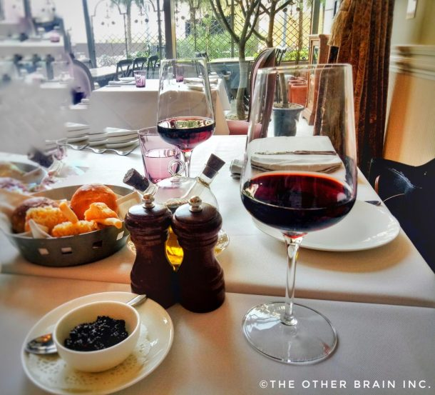 Good Food & Good Wine = Bon Appetito! In the picture: Italian Cabernet Sauvignon Red Wine