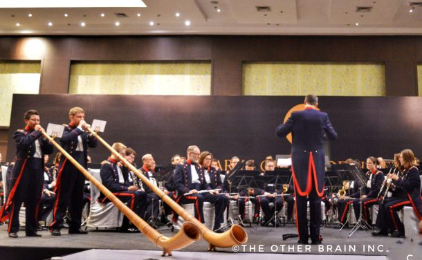 The Alphorn: Musical instruments used by Swiss Shepherds at Landwehr Orchestra Concert