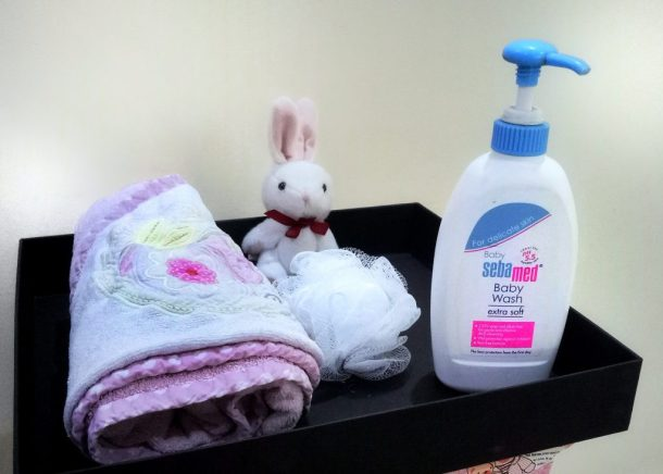 Sebamed Baby Wash maintains the skin at pH 5.5 for Baby's soft skin