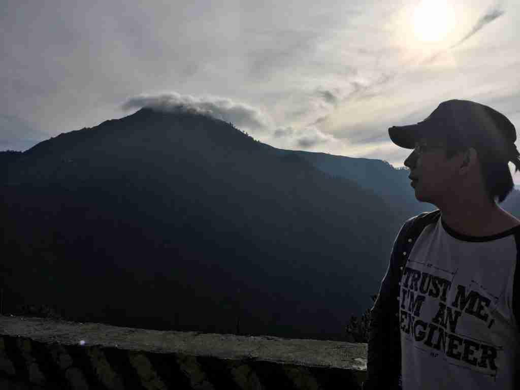 sunrise in mountain of sagada