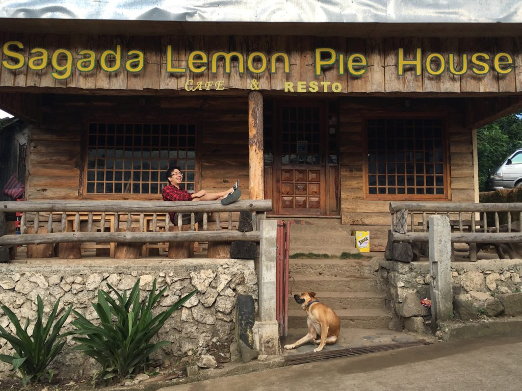 sagada lemon pie with dog