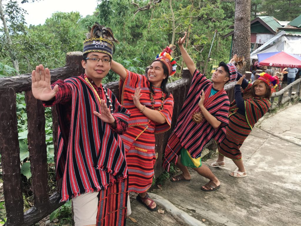wearing bahag traditional clothes of baguio