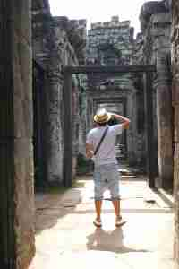 man with hat in cambodia
