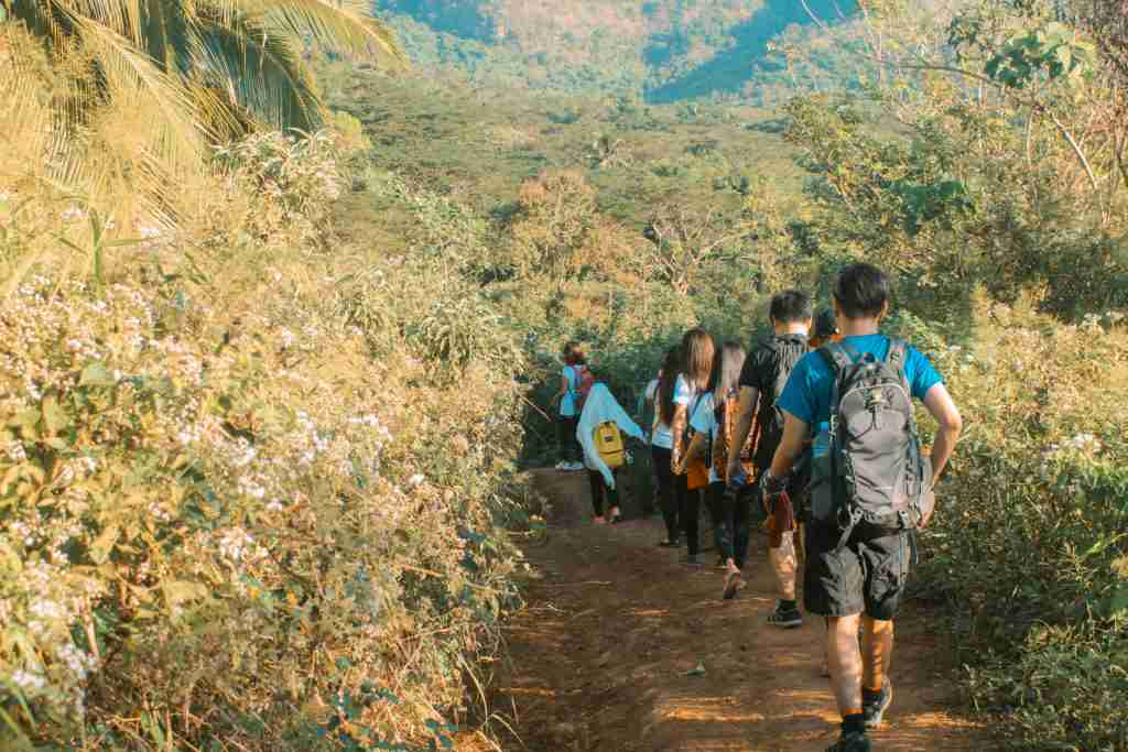 group of hikers in mount marami