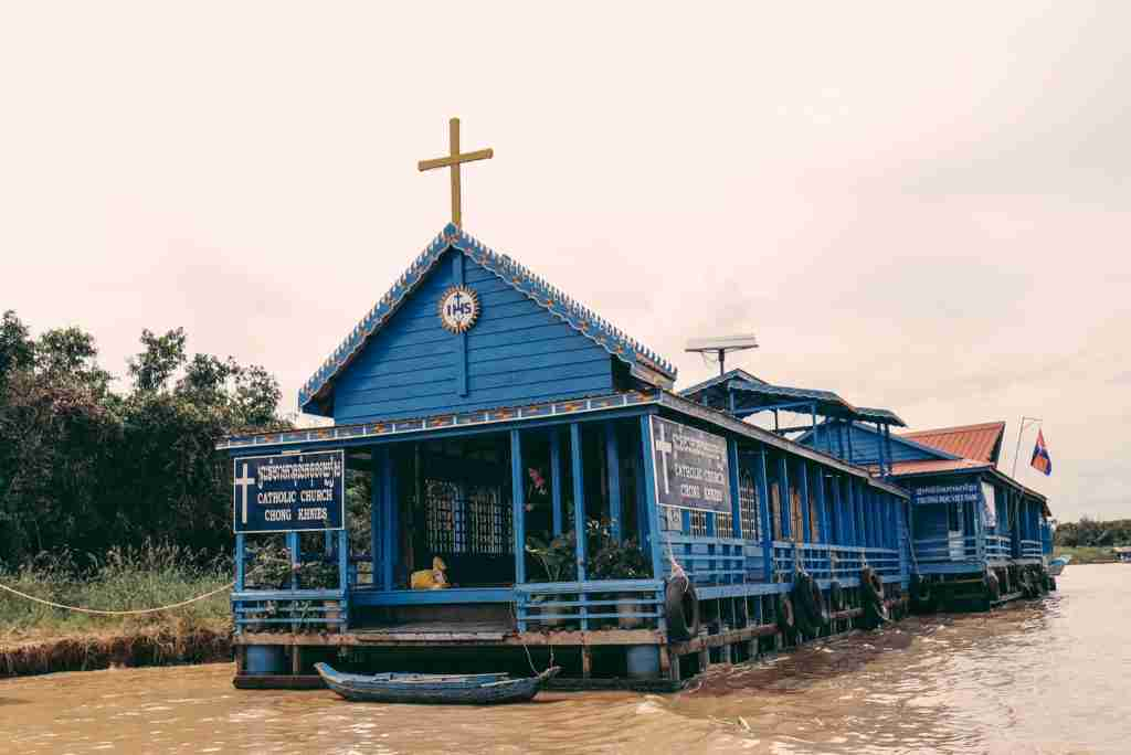 catholic church in Tonle Sap Lake