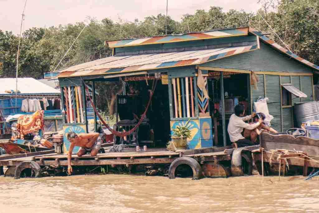 floating village tonle sap lake siem reap cambodia