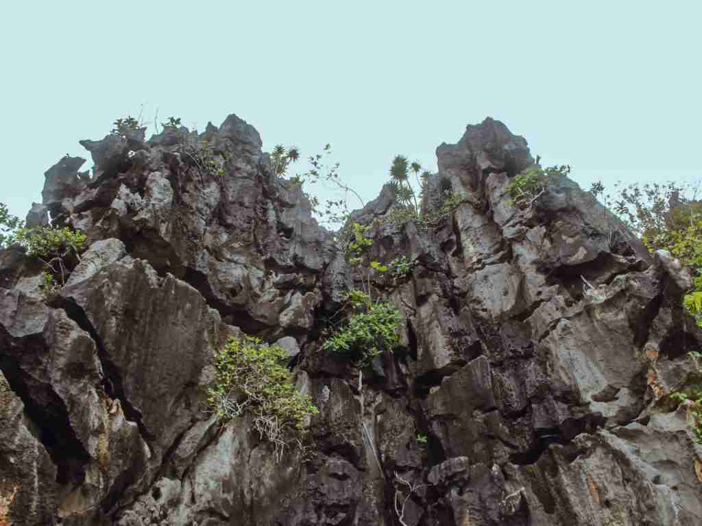 rock formations in minalahos island in caramoan islands