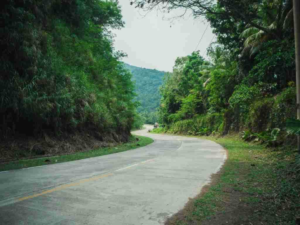 zigzag road in real quezon