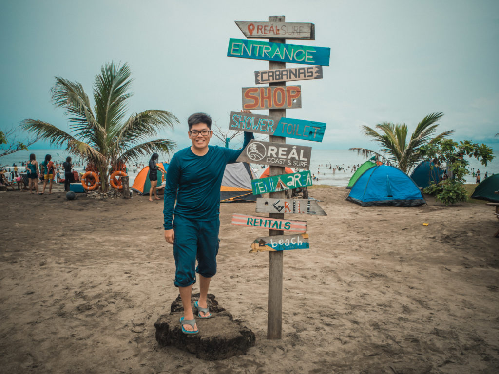 real coast and surf resort in quezon with colorful signages