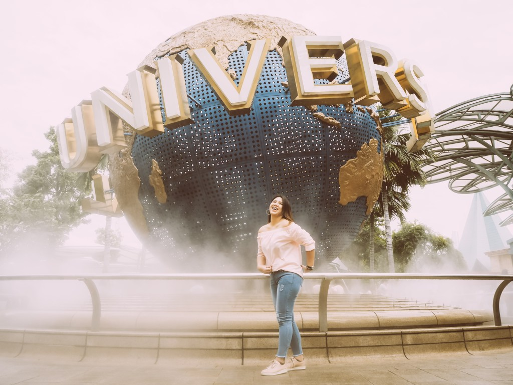 universal studios singapore pic with the globe