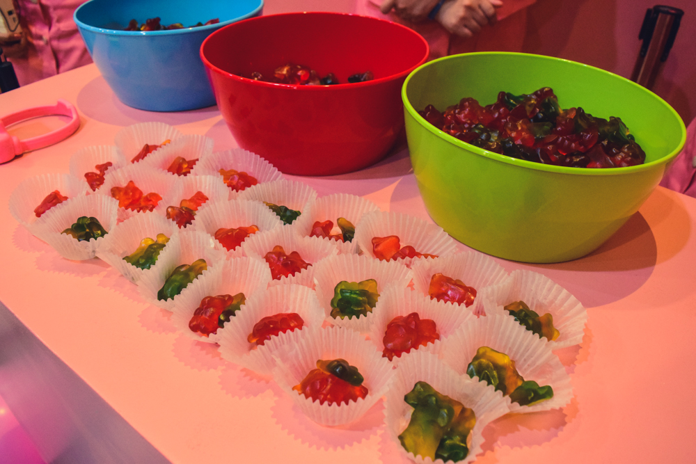 cute little gummy gears in dessert museum manila