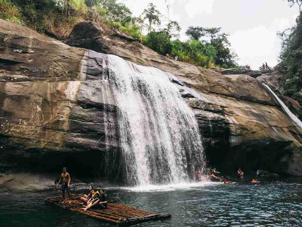 bamboo raft Tangadan Falls La Union