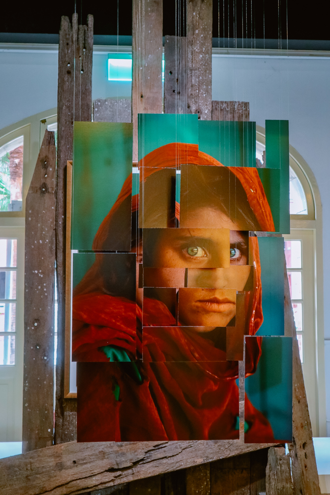 National Geographic Afghan Girl Steve McCurry exhibit in Museum of Contemporary Arts Taipei