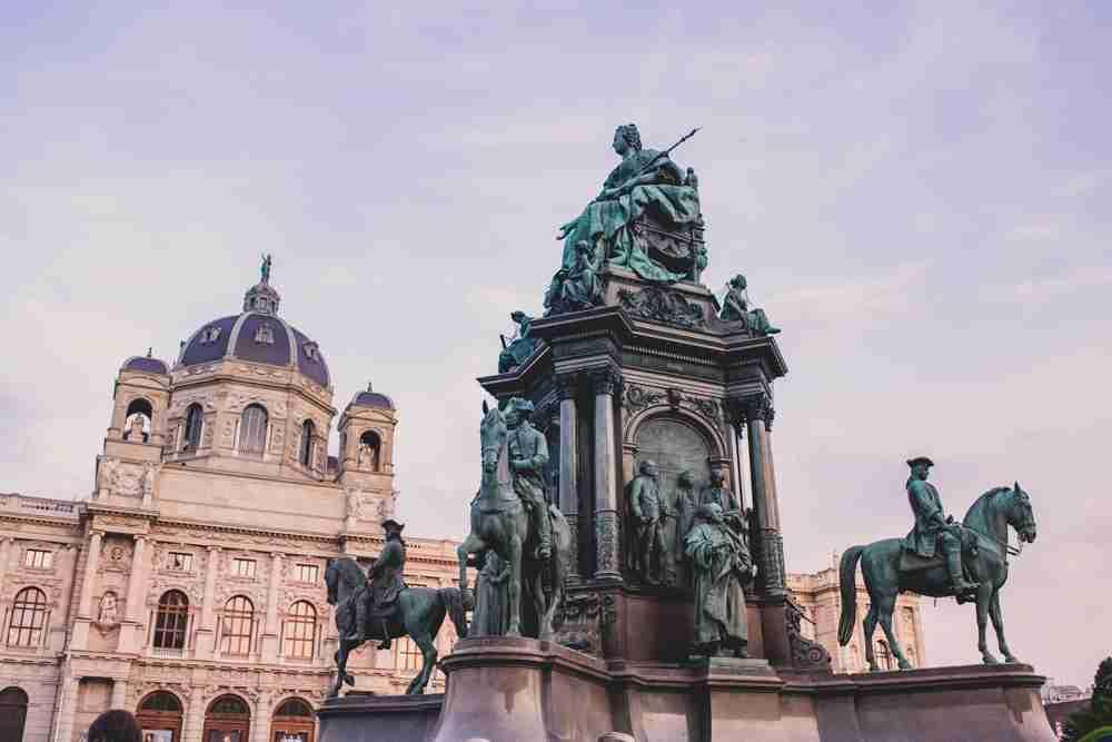 1 month europe trip maria theresa statue in vienna