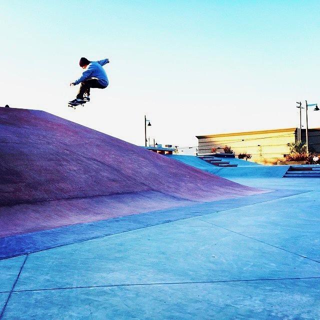 Skateboarder at Skateboard park