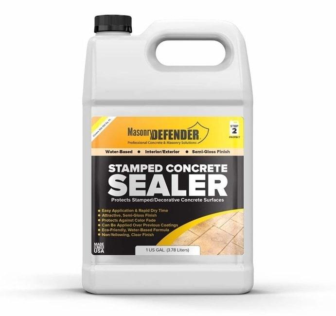 Stamped Concrete Garden Pond Sealer